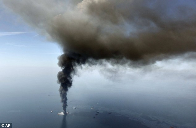 Danger: Three years after the Deepwater Horizon spill, claims are still coming in against BP, possibly harming British workers' pensions