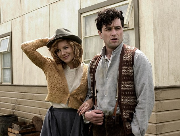 Big roles: Matthew Rhys pictured as Dylan Thomas alongside Sienna Miller who played his wife Caitlin in the 2008 film Edge Of Love