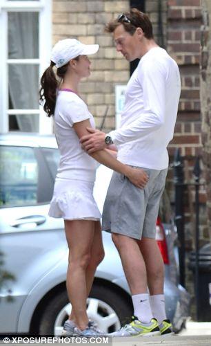 Pippa and her boyfriend Nico Jackson embrace in the street