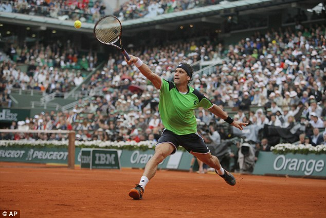 Dream over: Ferrer was appearing in his maiden Grand Slam final but could not live with his opponent