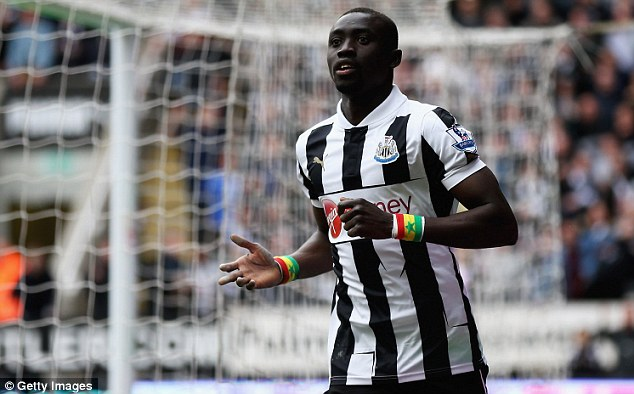 Money talks: Papiss Cisse has told Newcastle he won't play in a shirt adorned with Wonga.com