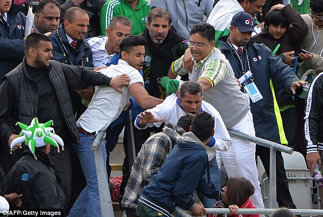 Following: The majority of supporters in attendance at Edgbaston were supporting Pakistan