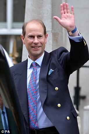 The Earl of Wessex leaves the London Clinic, where the Duke of Edinburgh is recuperating following an operation on his abdomen