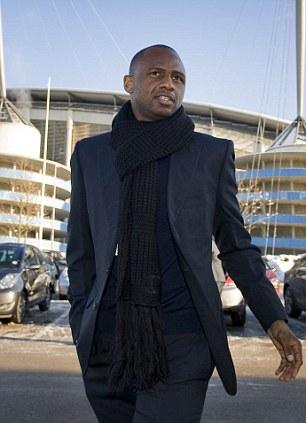 Head of elite development at Manchester City, Patrick Vieira