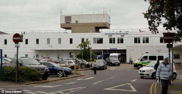 A spokesman for Northampton General Hospital, pictured, said patients are normally advised to consult their dentist, yet added Miss Kerr has an appointment to discuss her teeth: 'Unfortunately there is a waiting list,' said the spokesman, 'but we can assure Alex she has not been abandoned by the NHS'