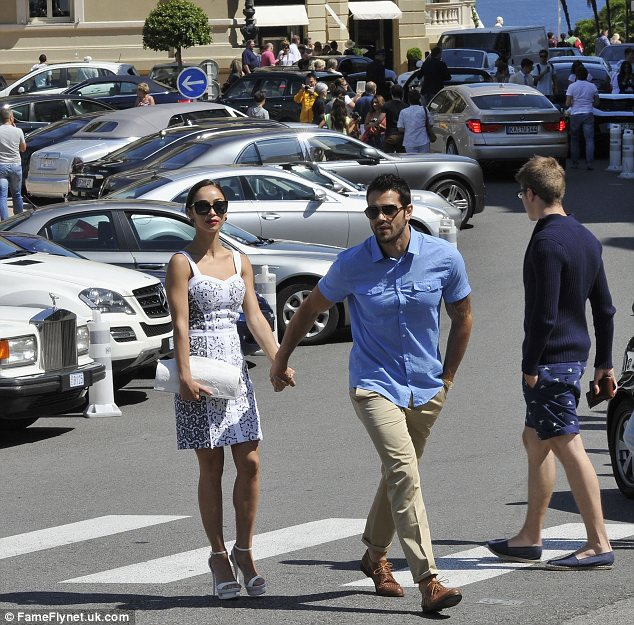 Soaking up the culture: The couple are in town for the 53rd Annual Monte Carlo Television Festival