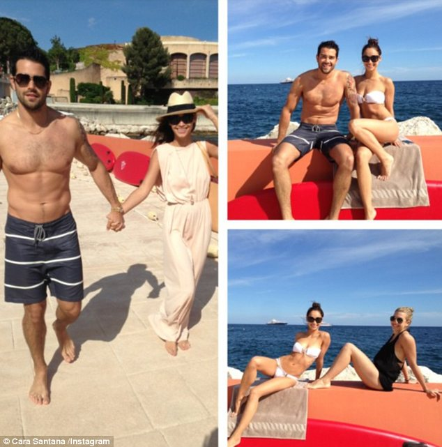 Beautiful beach bodies: Jesse and Cara showed off their slim shapes in pictures posted to Instagram