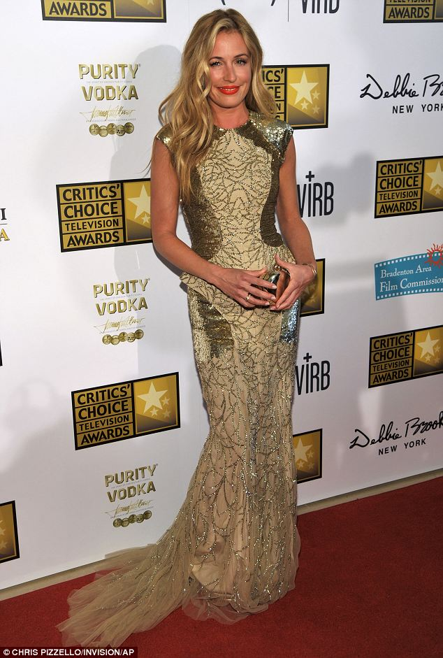 Head turning: Cat Deeley stunned at the Critics' Choice Television Awards at the Beverly Hilton Hotel on Monday