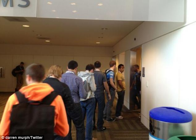 Where are the women? Another image taken at this year's Google I/O reveals the same trend