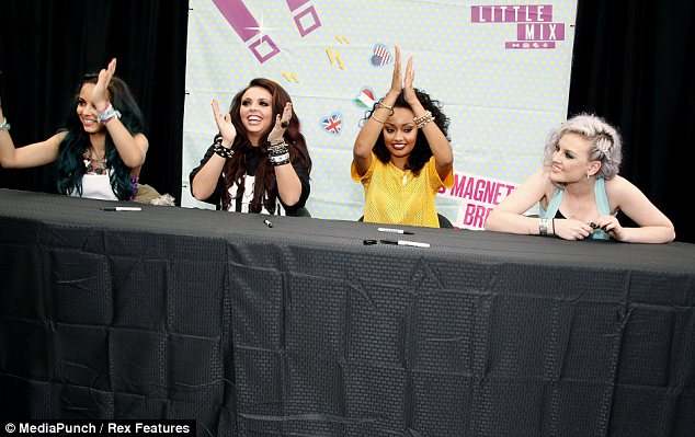 On tour: The girls are on a promotional trip round America with their album DNA