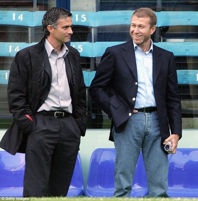 Roman Abramovich and Jose Mourinho