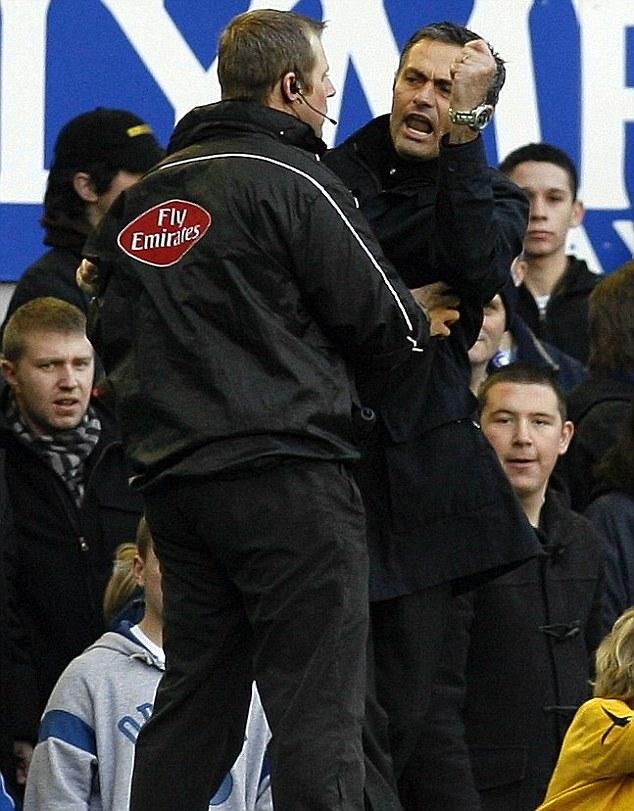 Jose Mourinho at Goodison Park
