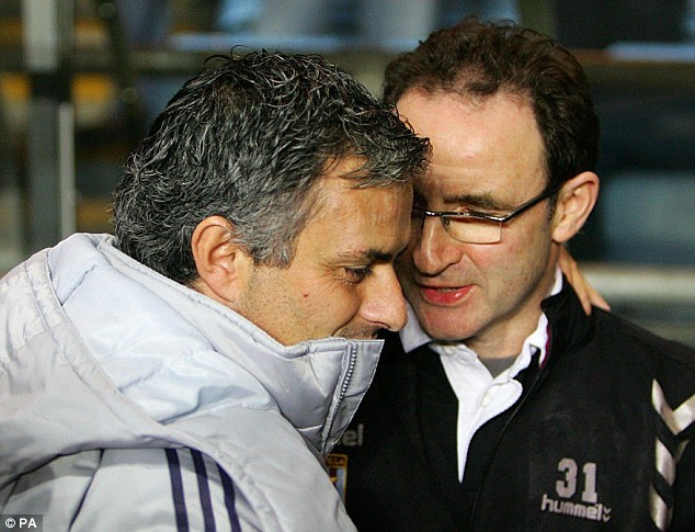 Martin O'Neill and Jose Mourinho
