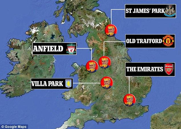 Mourinho's hot spots