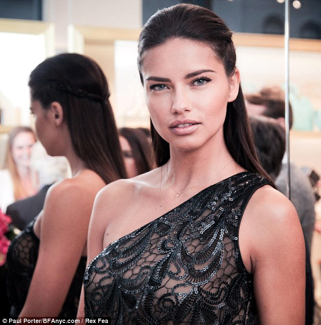 Pretty woman: The Victoria's Secret model wore the top of her hair back in a braid