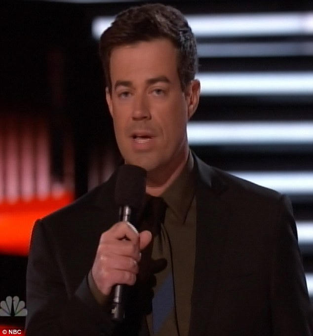 Must try harder: After an improved performance on Monday Carson Daly was once again a poor man's Ryan Seacrest on Tuesday