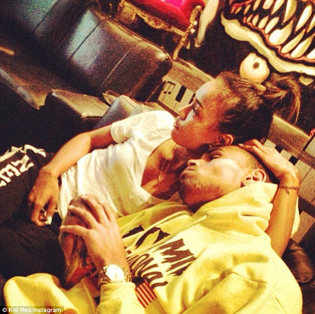 Back on: Earlier this month, Karrueche posted this picture of herself with the singer