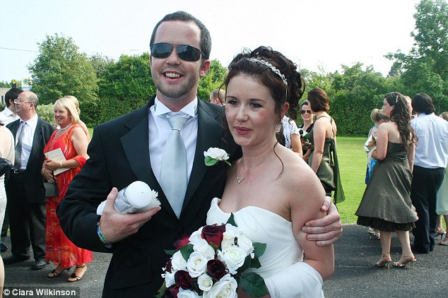 Targeted: Mrs Meagher (pictured with her brother Michael on her wedding day) was attacked by Bayley as she walked home alone to her Melbourne home