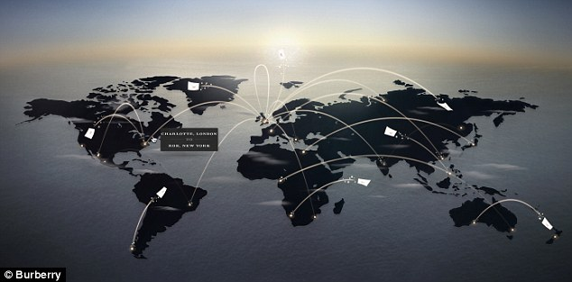 Where's the most romantic city? The Burberry map will reveal in real time where letters are being sent and received