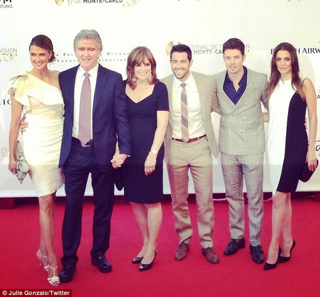 Coordinating clan: Later on Wednesday the cast attended yet another red carpet event, even better dressed