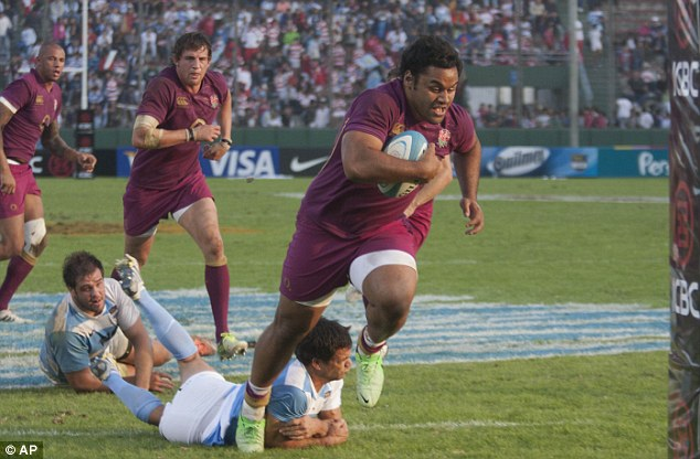 Making an impact: England's Billy Vunipola impressed against Argentina