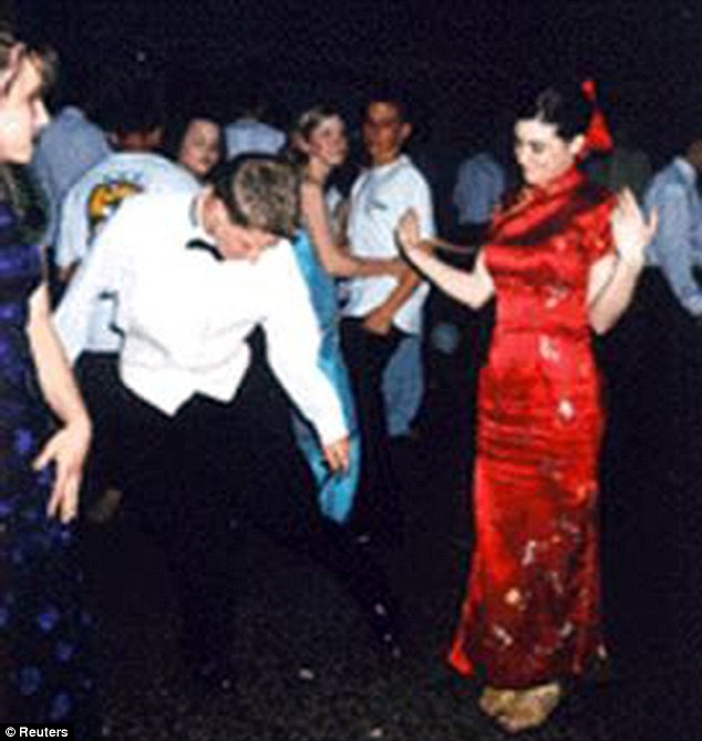 Snowden is seen cutting a rug at a dance in 2002. He bragged about attracting young women in online postings he made as a teenager
