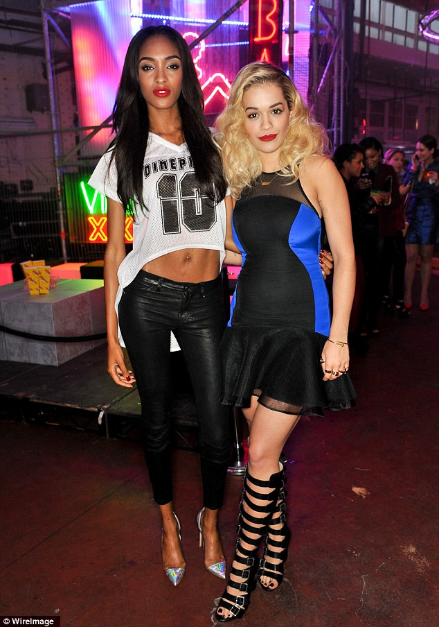 Model match: Rita chatted to Jourdan Dunn who she will now be able to view as a contemporary now she is the face of a fashion brand
