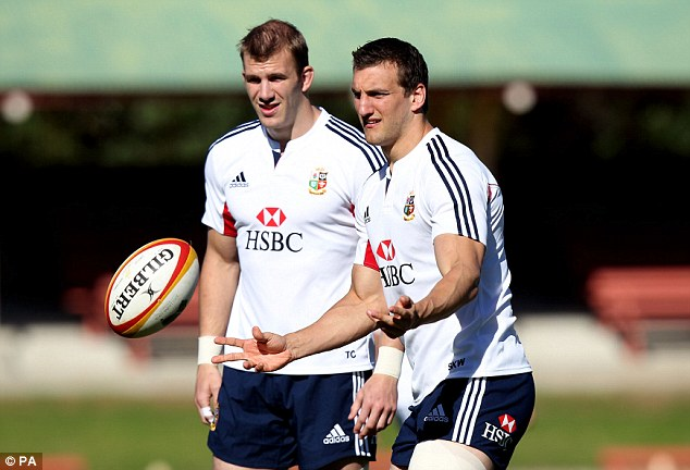 Training again: Skipper Sam Warburton is back playing again after his knee injury