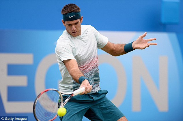 Forehand: Third seed Del Potro is on the other half of the draw to Andy Murray