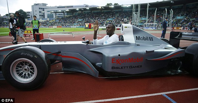 Stretching himself: He did a couple of laps of the track, a bit further than he normally runs