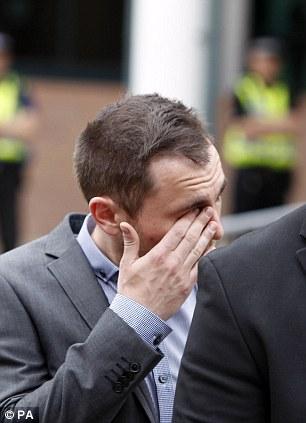 Gareth Cleminson, boyfriend of Nicola Hughes, outside Preston Crown Court