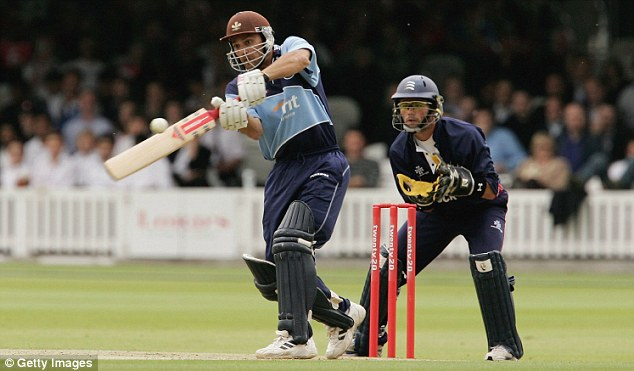 Swinging the willow: Mark Ramprakash hits out in 2006