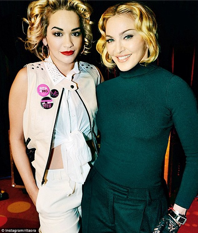 Material girls: Rita announced that she would be the new face of Madonna's clothing line with a photo of her with Madge herself