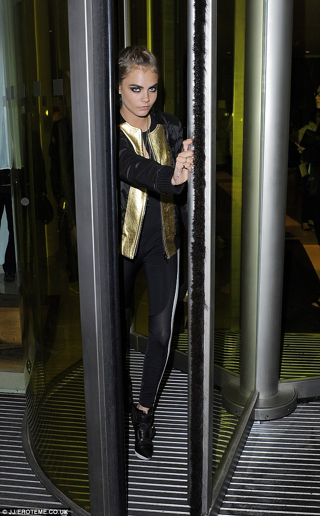 Earlier that evening: Cara had been at the St Martin's Lane Hotel before attending the party