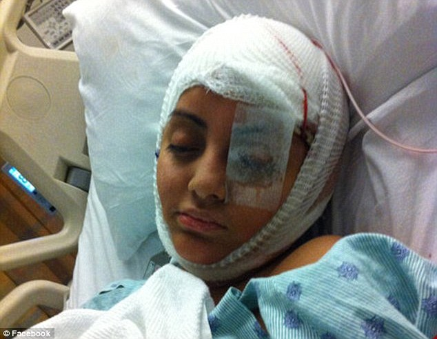 Tragic: Extra Gabriella Cedillo received brain injuries on the set of Transformers 3 in Sept 2010 after a cable smashed though the car she was driving.