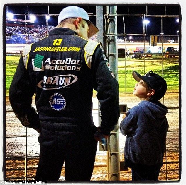 Lost Father: Leffler leaves behind his 5-year-old son Charlie Dean, who he is seen with in this picture from his Instagram page
