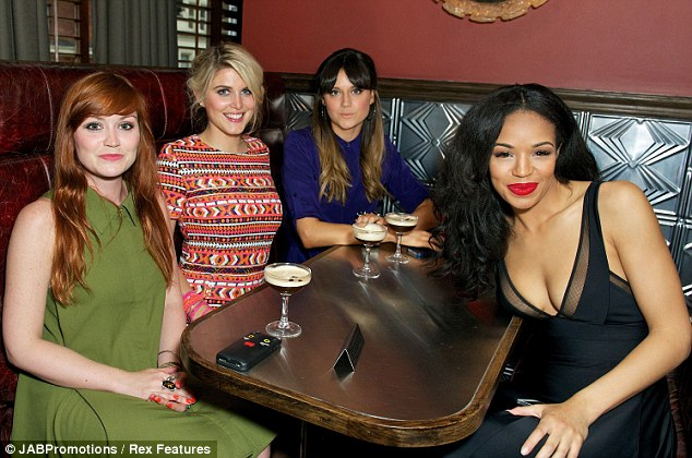 Girls' night: Arielle, Ashley, Lilah Parsons and Sarah Jane snuggled in a booth as the music got underway