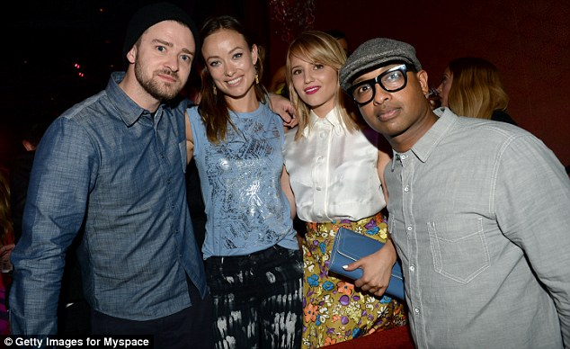 Inside the event: Olivia and Dianna were seen posing up with Justin Timberlake and musician Kenna