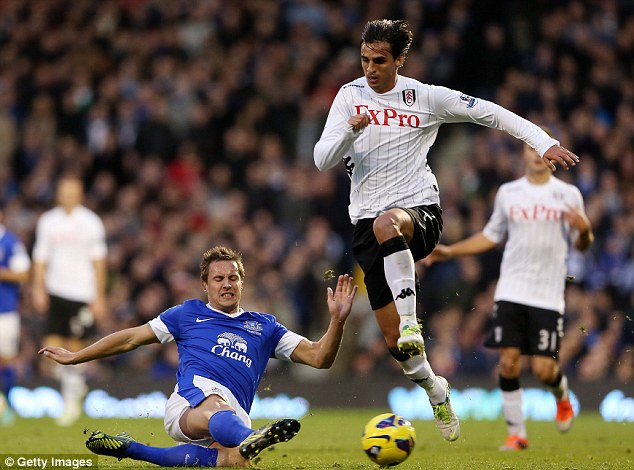 Precious: Bryan Ruiz is worth roughly a quarter of the value of Fulham's whole squad