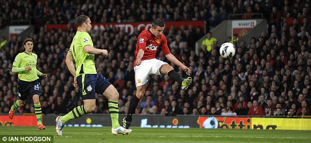 Under valued: Robin van Persie, bought for just £24m, fired Manchester United to another Premier League title