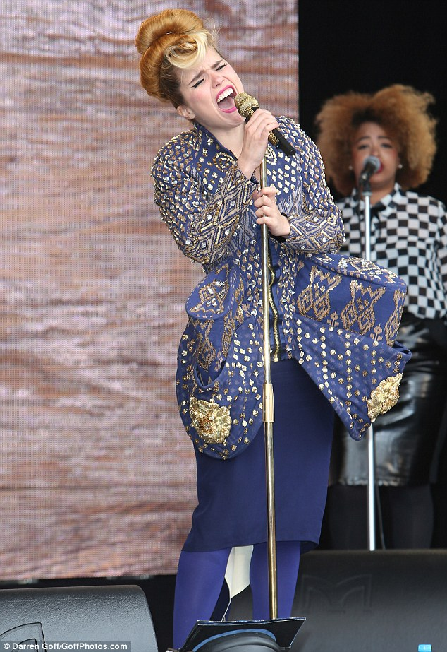 Belting it out: Paloma Faith was just one of the stars who performed for free during Wednesday night's shows