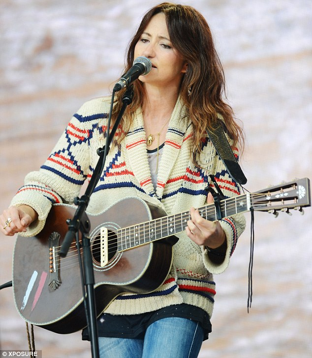 Singing her heart out: KT Tunstall also performed at the event