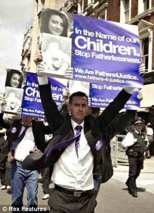 Time Haries marching at a Fathers 4 Justice demonstration