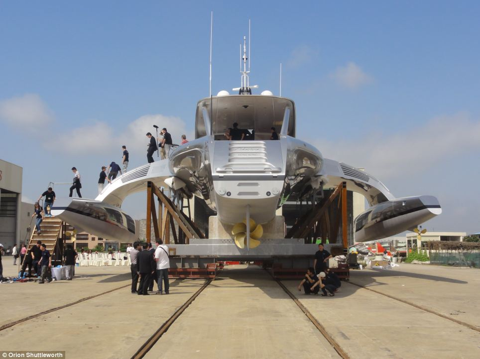 The boat was built in China for the Hong Kong-based couple and recently launched
