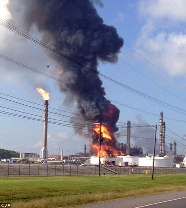 Victims: Officials said at least injured at the petrochemical plant explosion at 8:30 Thursday morning. The fire was out by 11am