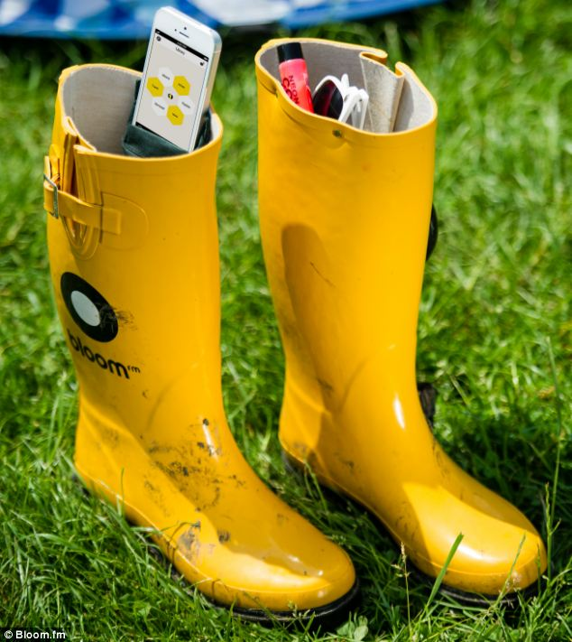 The wellies also feature a waterproof pocket in the right boot that keeps your phone safe and dry, and a larger pocket in the left boot to store other belongings and festival essentials such as money, tissues, sunglasses or a torch
