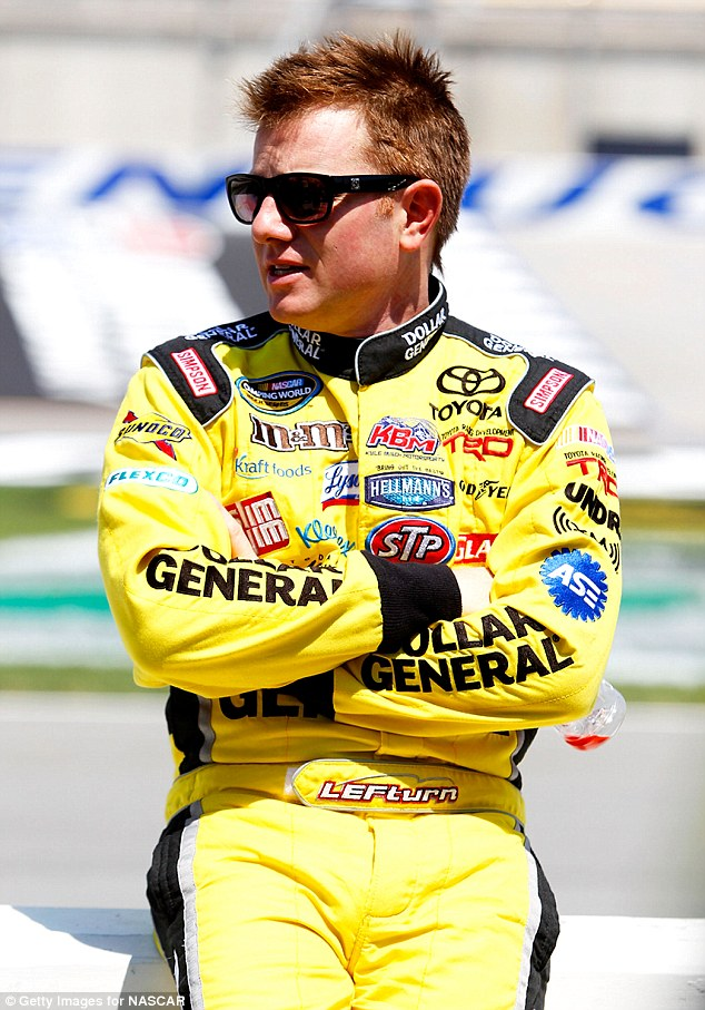 Racer: Tributes poured in for Leffler, pictured, who made 423 starts in NASCAR's three national series, winning twice on the Nationwide Series and once on the Truck Series