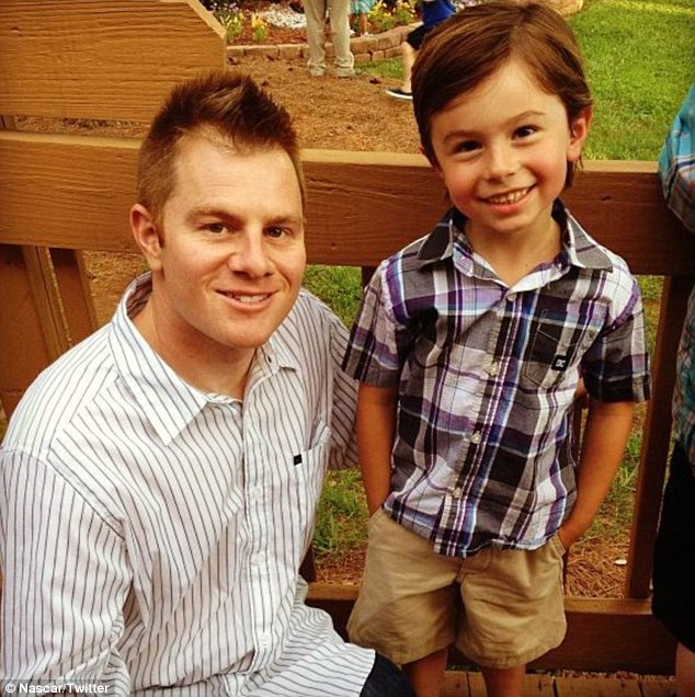 Proud: Leffler, left, was pictured with Charlie Dean as he finished kindergarten just last month