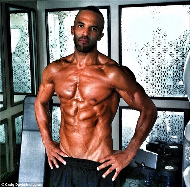 Body confident: Craig David shared his most inspiring self-portrait with his fans via Instagram on Thursday