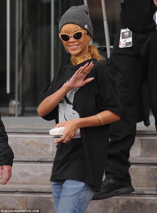 Smile of success: Riri sold out the Manchester Arena for two nights as part of the UK leg of her Diamonds world tour